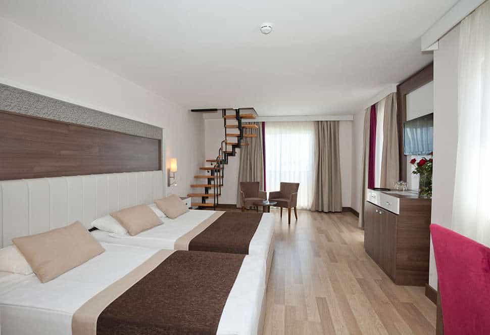 Hotelkamer van Side Mare Resort & Spa in Side, Turkse Rivièra, Turkije