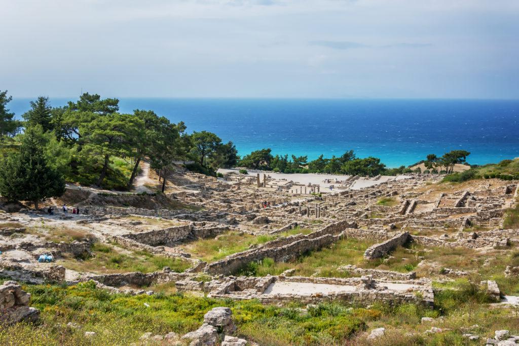 Kamiros op Rhodos in Griekenland