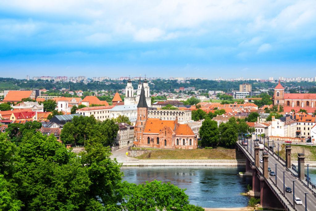 Centrum van Kaunas in Litouwen