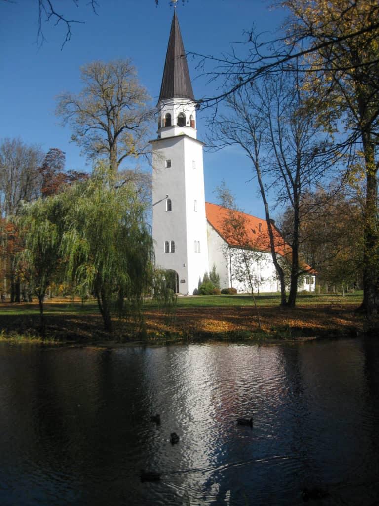 Kerk van Sigulda in Letland
