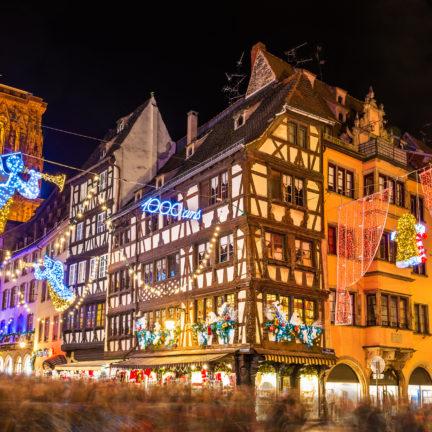 Kerstmarkt van Straatsburg in Frankrijk