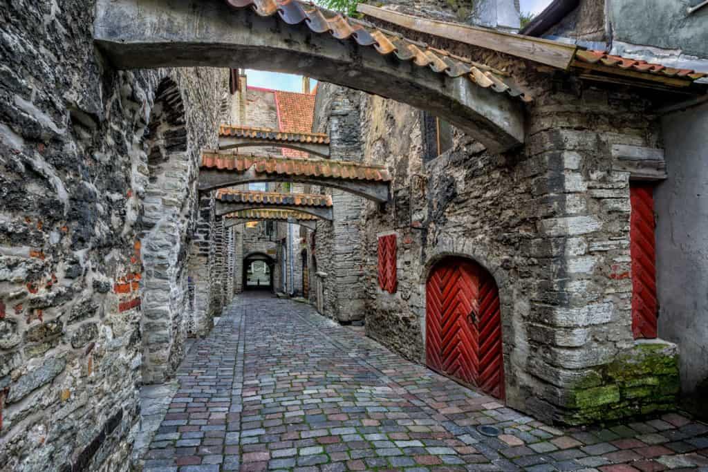 St Catherine's Passage in Tallinn, Estland