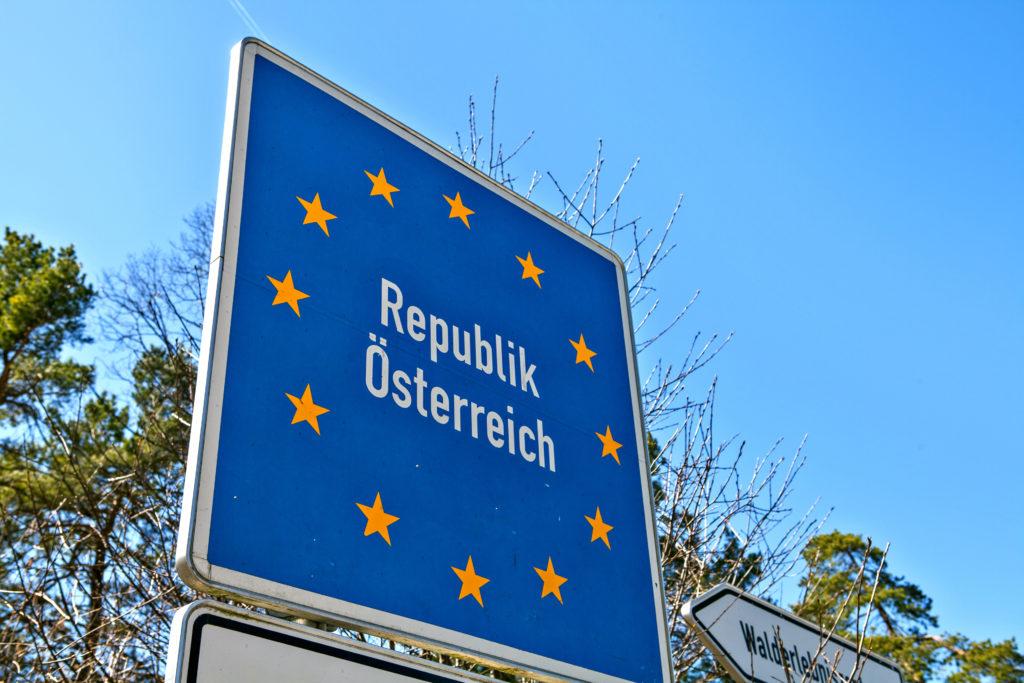 Landsgrens bord voor Oostenrijk