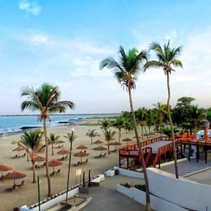 Ligging van Sun Beach in Bakau, Western, Gambia