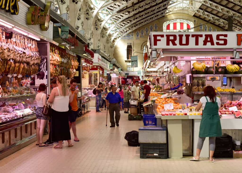 De markthal van Valencia in Spanje