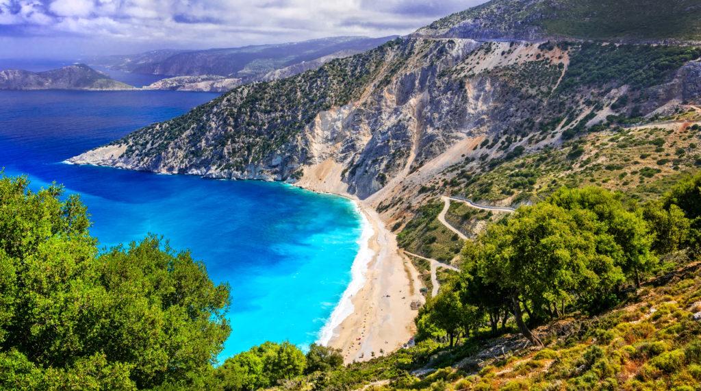 Myrthos Beach op Kefalonia in Griekenland