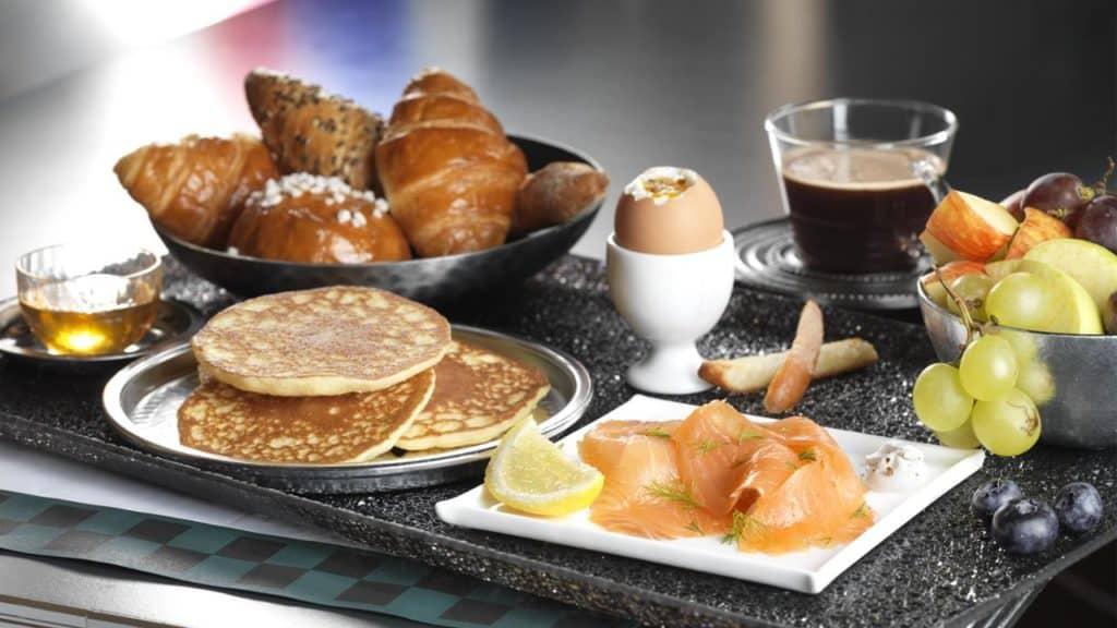 Ontbijt van Disney's Hotel New York in Marne-la-Vallée, Parijs, Frankrijk