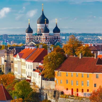 De oude stad van Tallinn in Estland, Baltische Staten