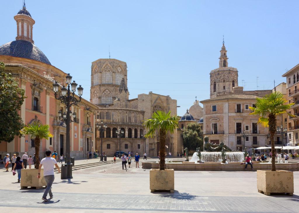 Plaza de la Virgen in Valencia, Spanje