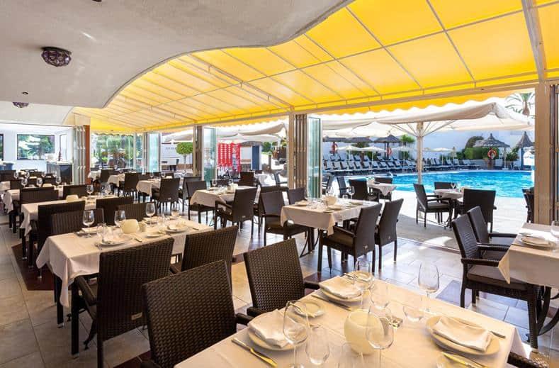 Restaurant van Appartementen Sol Barbacan in Playa del Inglés, Gran Canaria, Spanje