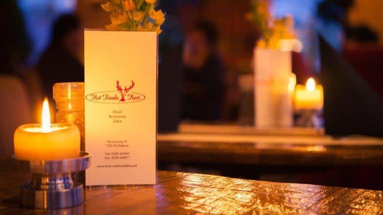 Restaurant van Hotel en Restaurant het Roode Hert in Dalfsen, Overijssel, Nederland