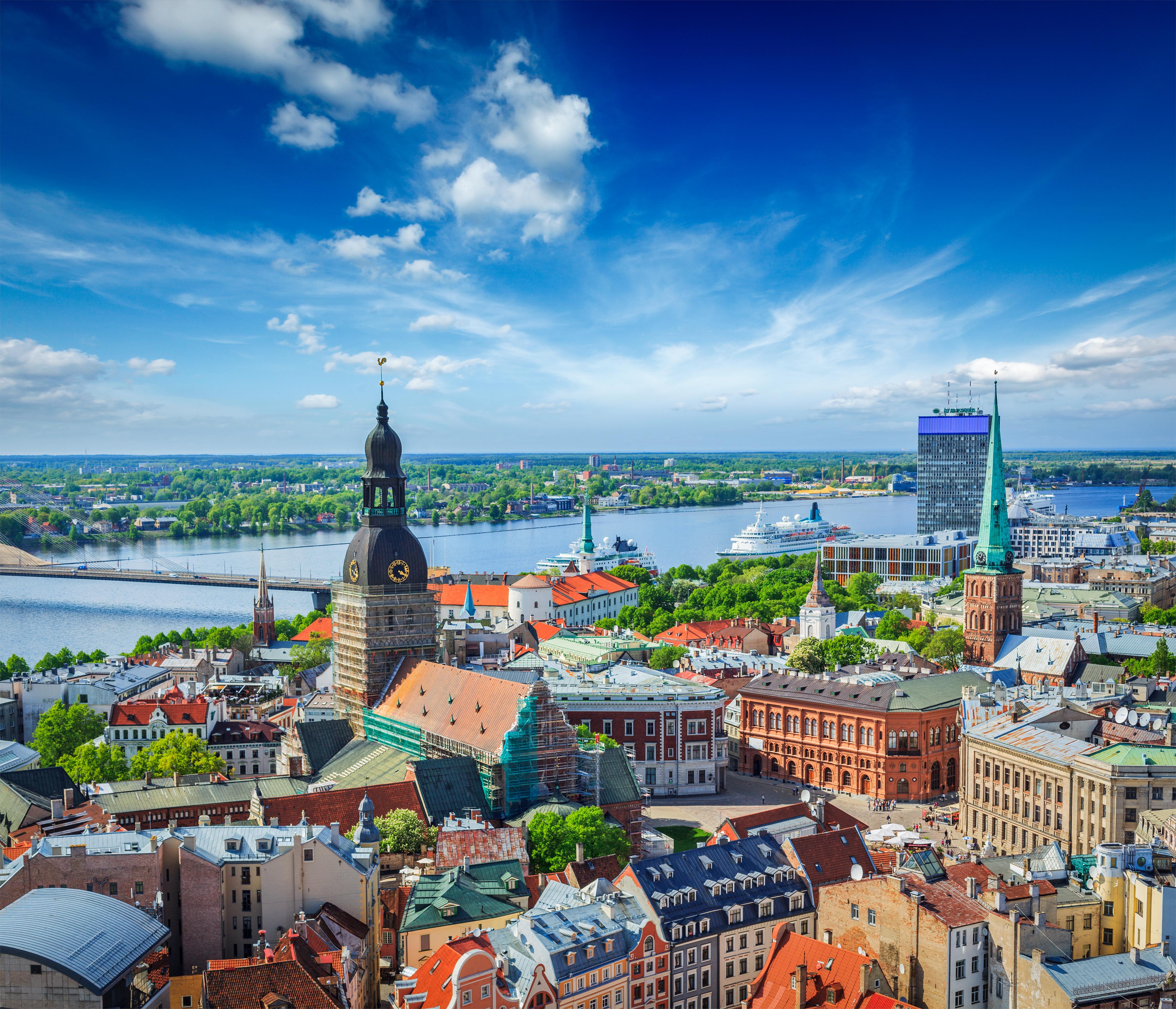 Het centrum van Riga in Letland
