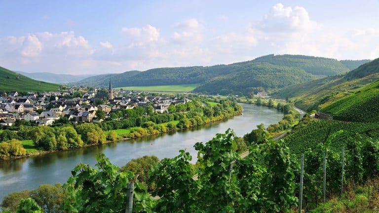 Rivier de Moezel in Duitsland