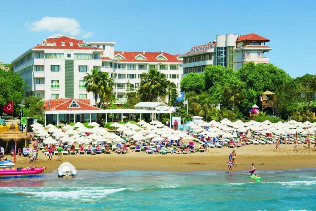Strand van Hotel Side Star Beach in Side, Turkse Rivièra, Turkije