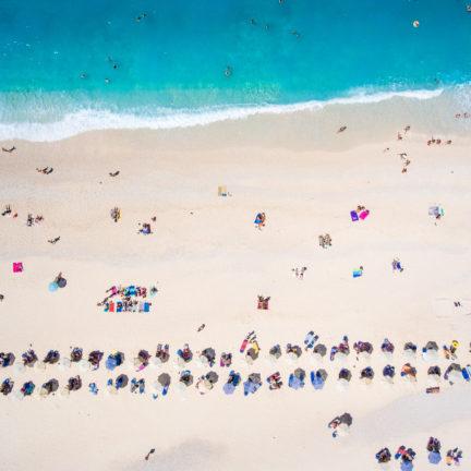 Strand van Kefalonia in Griekenland