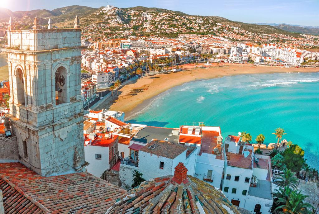 Strand van Valencia in Spanje