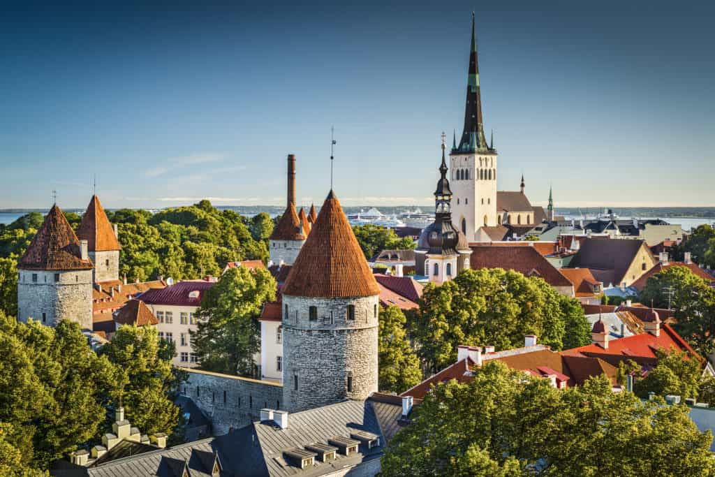 Centrum van Tallinn in Estland