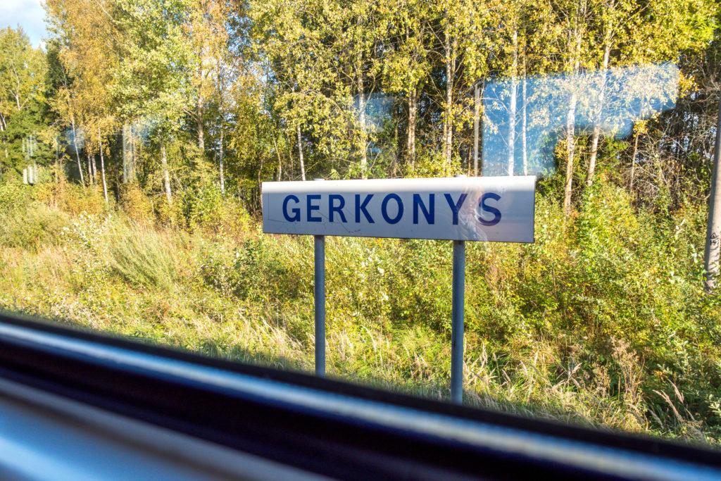 Onderweg met de trein in Litouwen