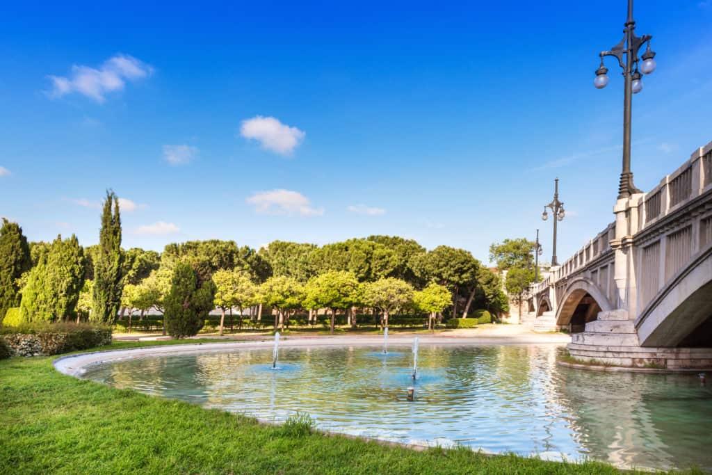 Turia park in Valencia, Spanje