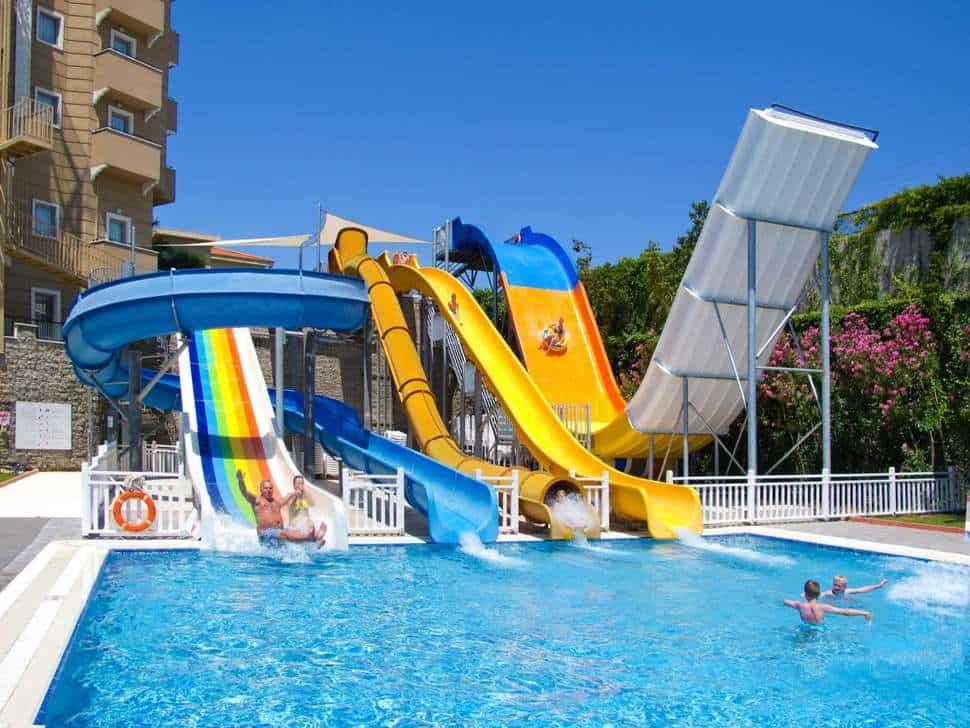 Waterpark van Side Mare Resort & Spa in Side, Turkse Rivièra, Turkije