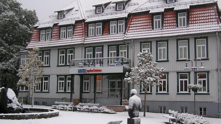Winter van Hotel Villa OpdenSteinen in Goslar, Nedersaksen, Duitsland