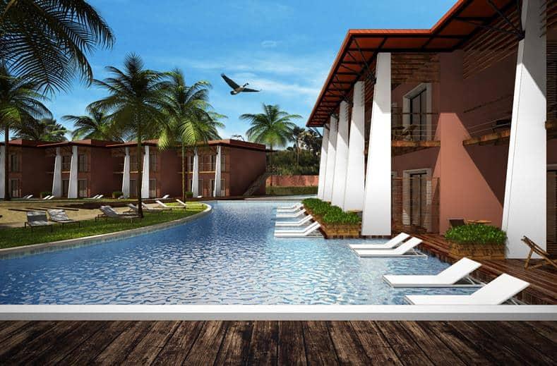 Zwembad van African Princess Beach Hotel in Kotu, Western, Gambia