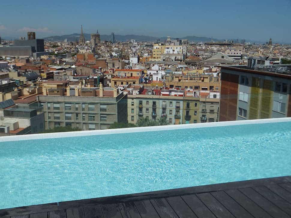 Zwembad van Andante Hotel in Barcelona, Costa del Maresme, Spanje