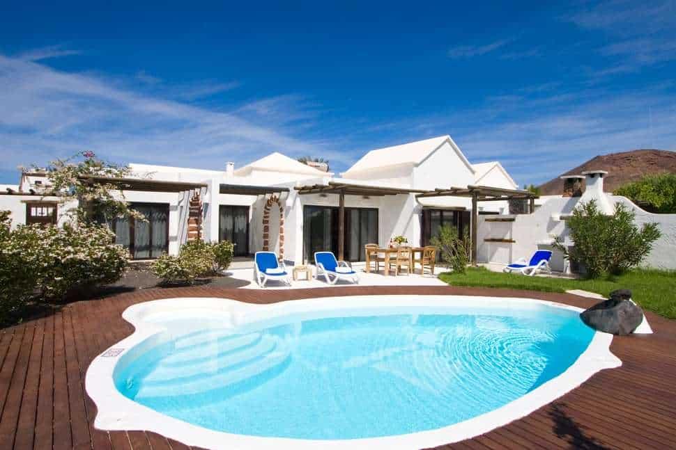 Zwembad van Villas Kamezi in Playa Blanca, Lanzarote, Spanje