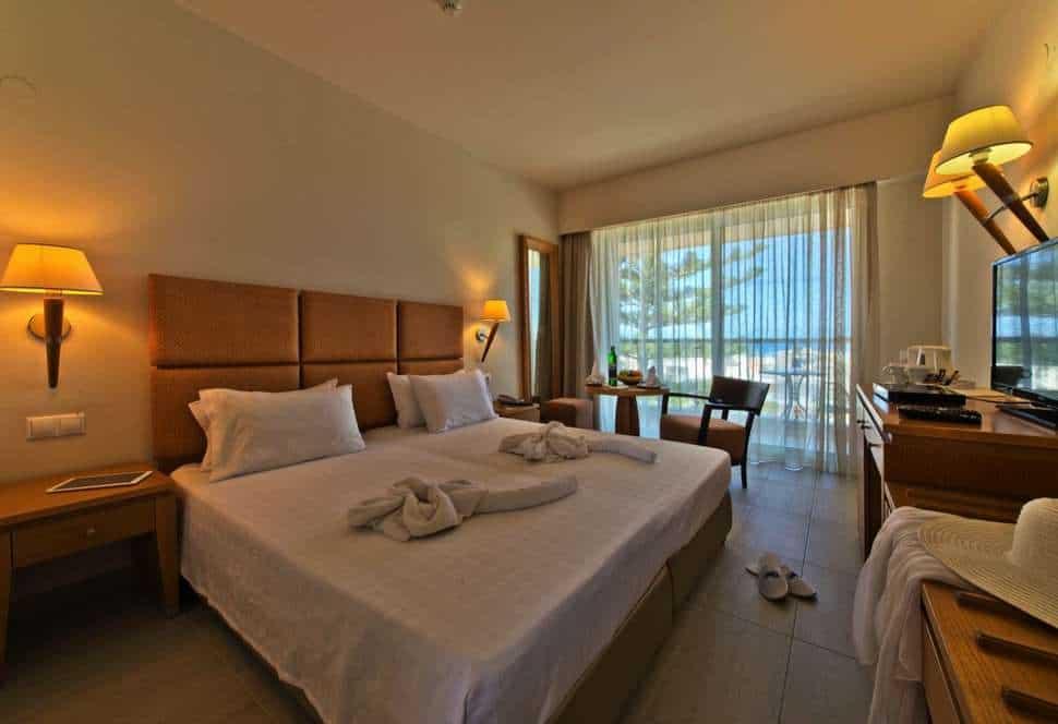 Hotelkamer van Minos Hotel in Rethymnon, Kreta, Griekenland