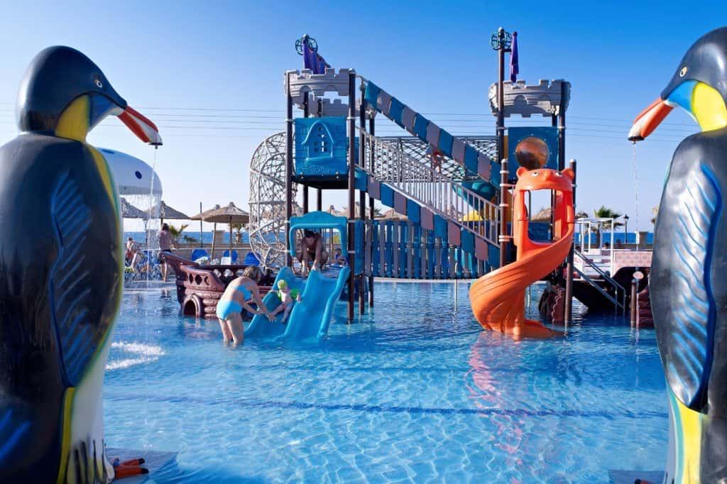 Kinderbad van Hotel Stella Village in Analipsi, Kreta, Griekenland
