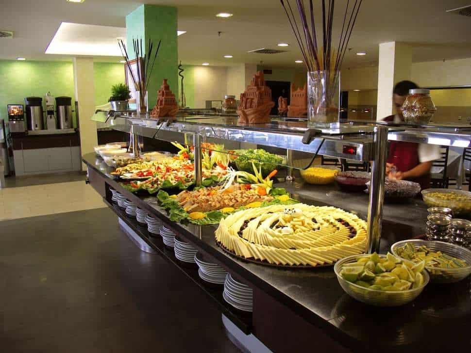 Restaurant van Floresta Aparthotel in Puerto del Carmen, Lanzarote, Spanje