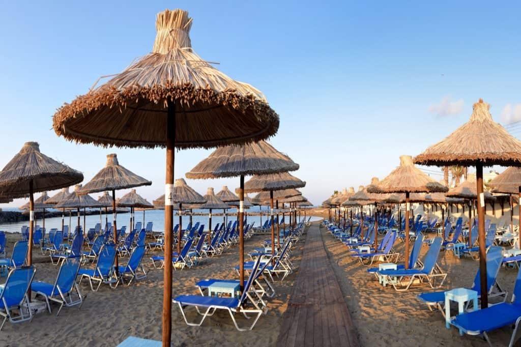 Strand van Hotel Stella Village in Analipsi, Kreta, Griekenland