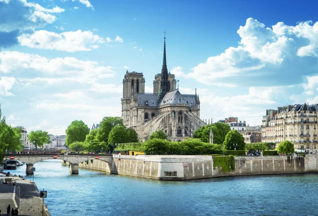 Uitzicht op de Notre Dame in Parijs, Frankrijk