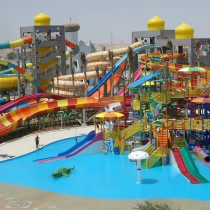 Waterpark van Ali Baba Palace in Hurghada, Rode Zee, Egypte