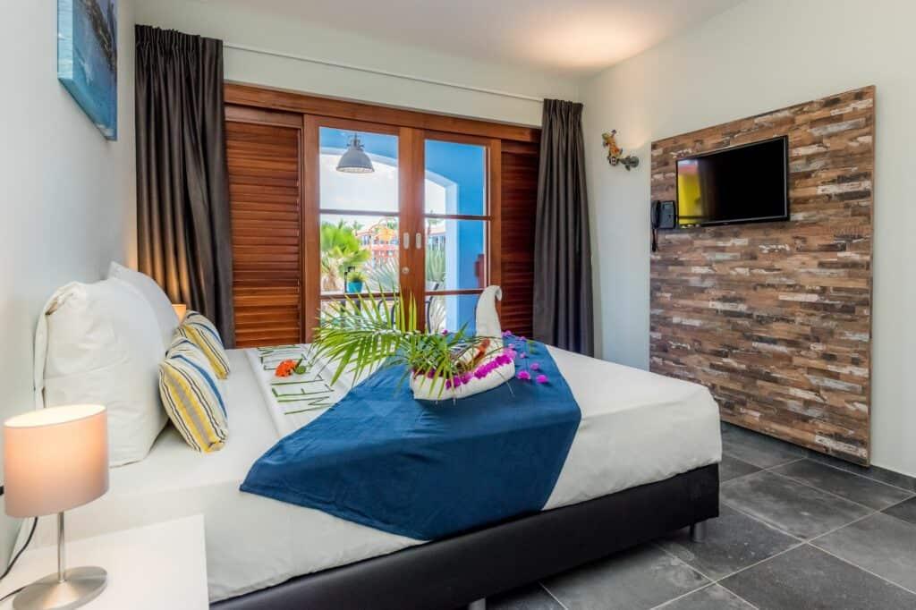 Hotelkamer van Kunuku Aqua Resort in Kashutuin, Curaçao, Curaçao
