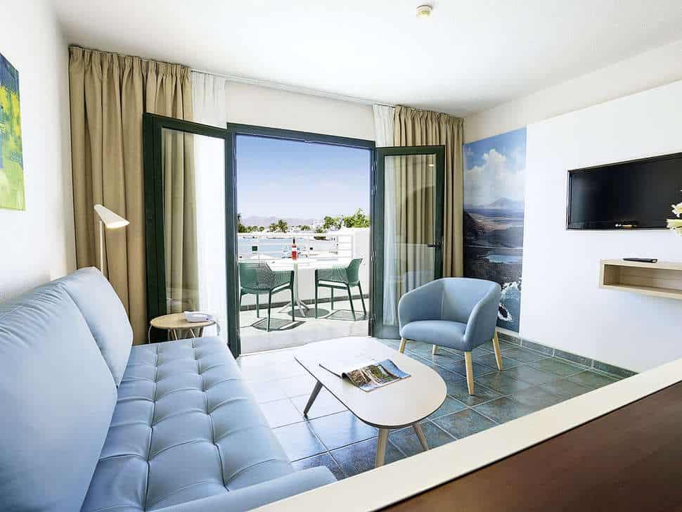 Hotelkamer van Relaxia Lanzaplaya in Puerto del Carmen, Lanzarote, Spanje
