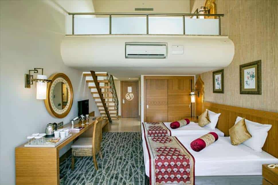 Hotelkamer van Royal Dragon Hotel in Side, Turkse Rivièra, Turkije