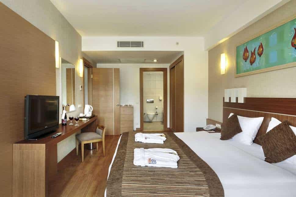 Hotelkamer van Sunis Kumkoy Beach Resort & Spa in Side, Turkse Rivièra, Turkije