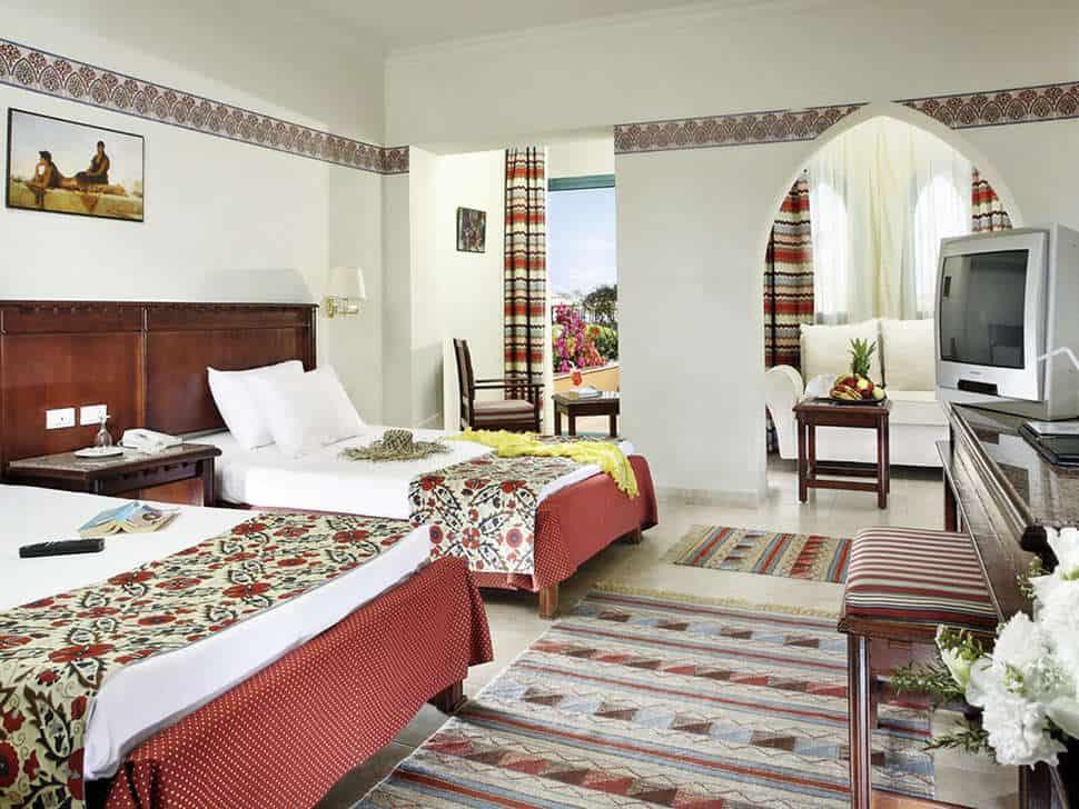 Hotelkamer van Sunrise Select Garden Beach Resort in Hurghada, Rode Zee, Egypte