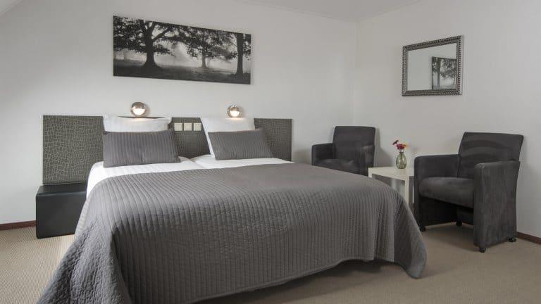 Hotelkamer van Wellness Hotel Spabron Hesselerbrug in Oosterhesselen, Drenthe, Nederland