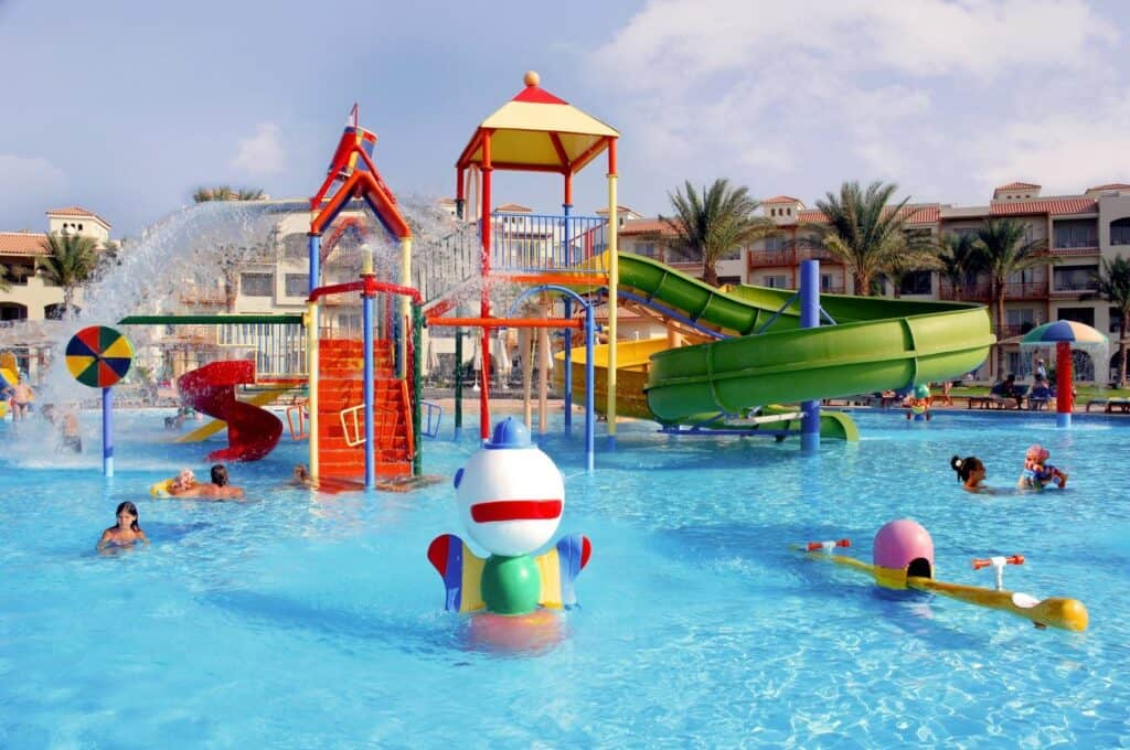 Kinderbad van Dana Beach Resort in Hurghada, Rode Zee, Egypte