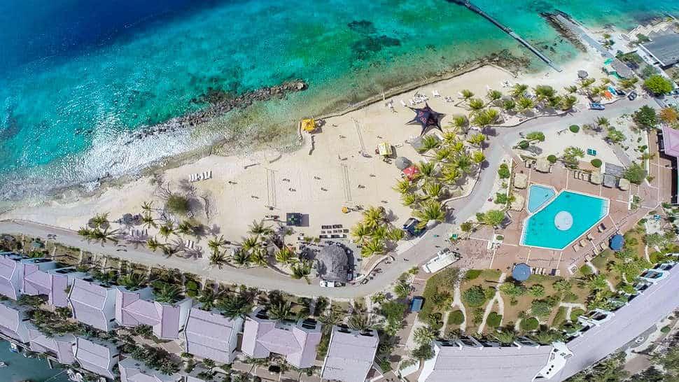 Ligging van Plaza Beach Resort Bonaire in Kralendijk, Bonaire, Bonaire