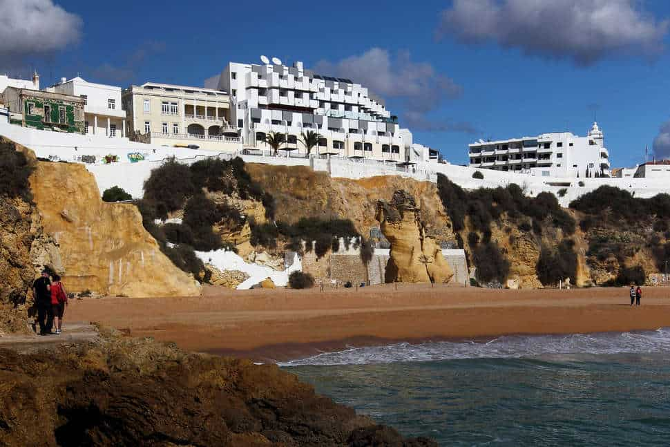 Ligging van Rocamar Exclusive Hotel & Spa in Albufeira, Algarve, Portugal