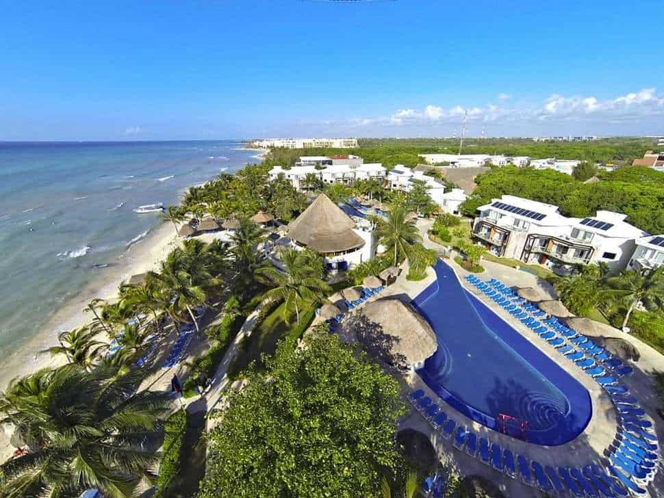 Ligging van Sandos Caracol Eco Resort in Playa del Carmen, Quintana Roo, Mexico