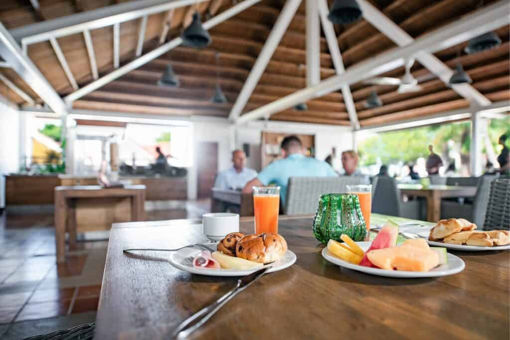 Ontbijt van Livingstone Jan Thiel Resort in Jan Thiel Baai, Curaçao, Curaçao