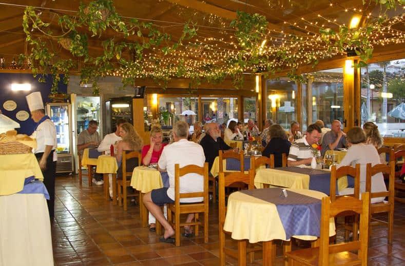 Restaurant van Bungalows Parque Bali in Maspalomas, Gran Canaria, Spanje