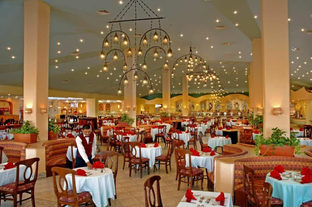 Restaurant van Dana Beach Resort in Hurghada, Rode Zee, Egypte