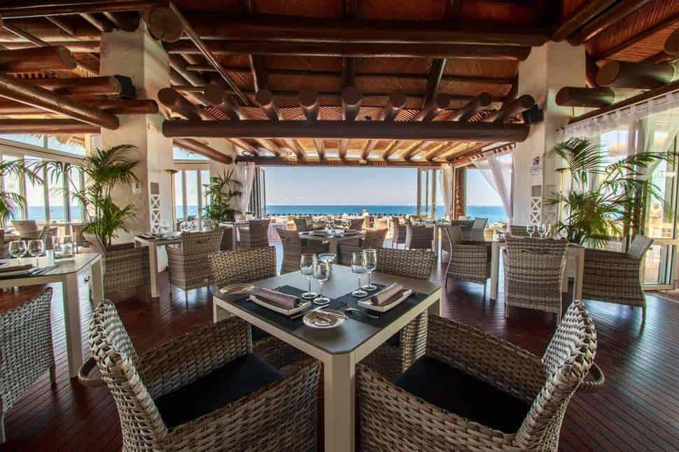 Restaurant van Hotel Jardin Tropical in Costa Adeje, Tenerife, Spanje