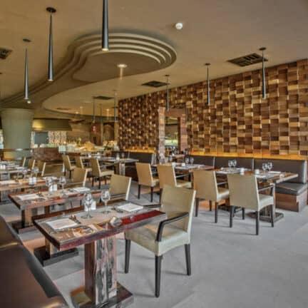 Restaurant van Lopesan Baobab Resort in Maspalomas, Gran Canaria, Spanje