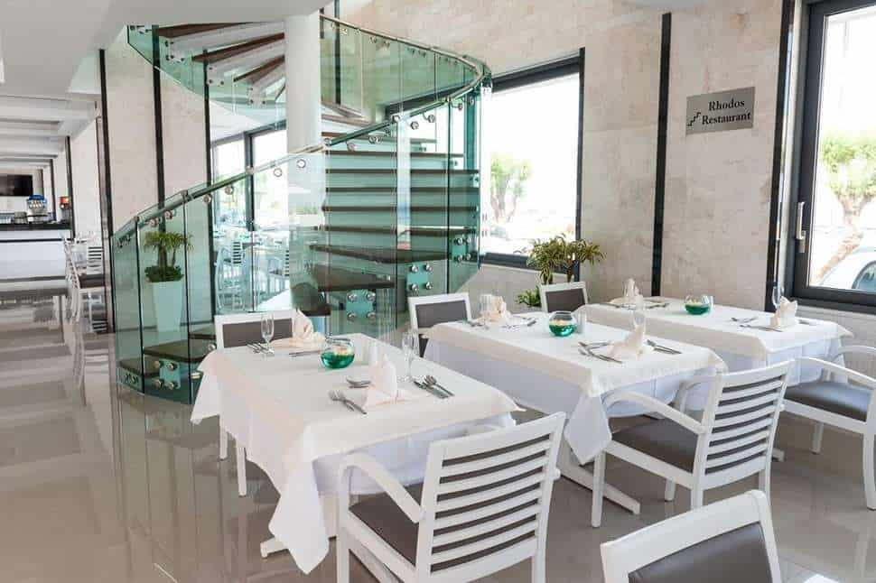 Restaurant van Rhodos Horizon Resort in Rhodos-Stad, Rhodos, Griekenland